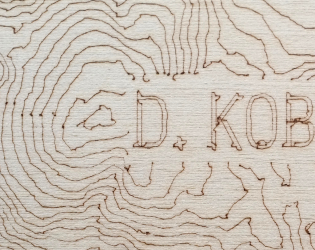 Laser Burn Map on Plywood with Silhouette Cutter